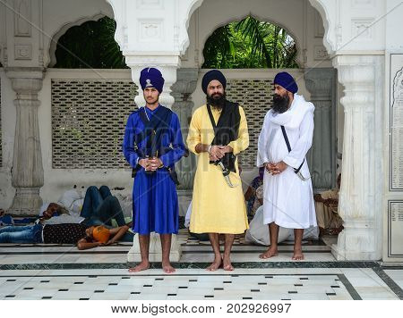 People Visit The Golden Temple In Amritsar, India