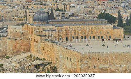 Old Al-Aqsa Mosque on the Temple Mount. Jerusalem.