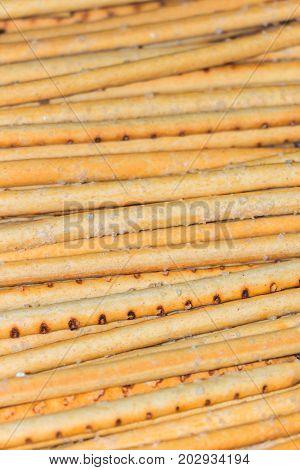 Salty sticks. Salty sticks. Vertical orientation of the photo