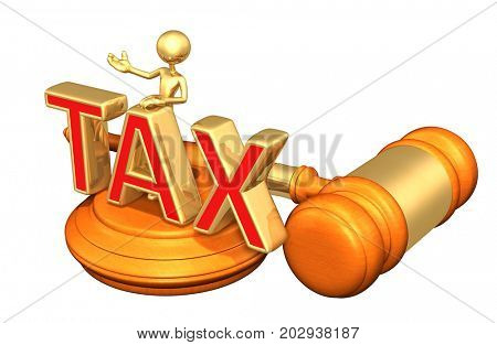 Legal Tax Advice With The Original 3D Character Illustration