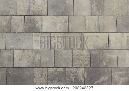 Grey tiles background. Classic tile wall texture for interior. Seamless texture. Pattern background.