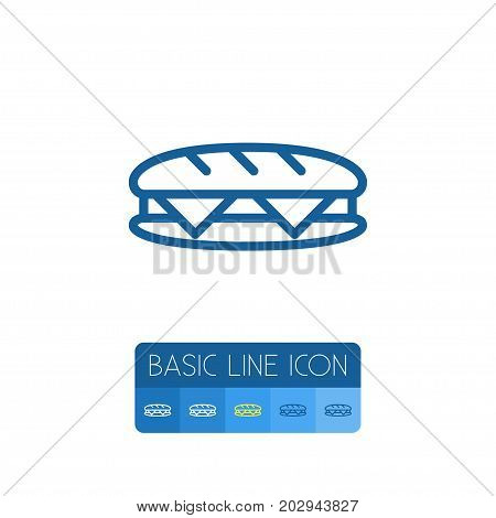 Sandwich Vector Element Can Be Used For Sandwich, Toast, Breakfast Design Concept.  Isolated Toast Outline.
