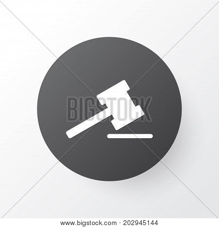 Premium Quality Isolated Gavel Element In Trendy Style.  Auction Icon Symbol.