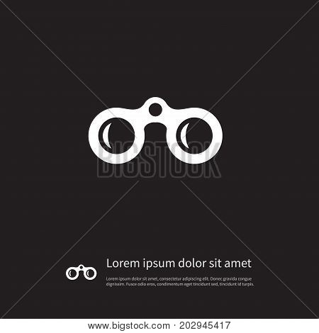 Lens Vector Element Can Be Used For Optical, Lens, Binoculars Design Concept.  Isolated Optical Icon.