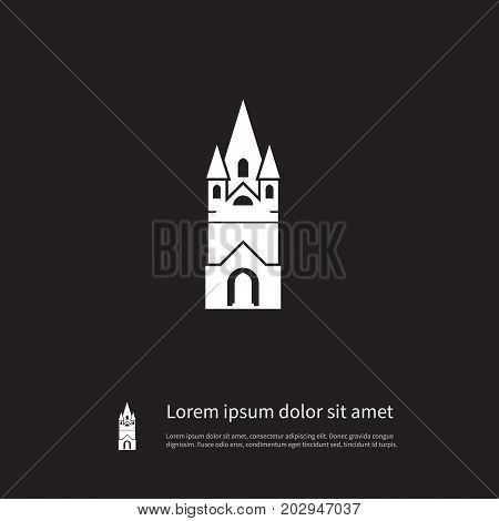 Cathedral Vector Element Can Be Used For Faith, Cathedral, Church Design Concept.  Isolated Faith Icon.