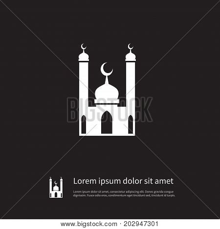 Mohammedanism Vector Element Can Be Used For Culture, Mosque, Religion Design Concept.  Isolated Religion Icon.