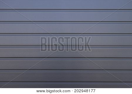 Dark Gray Painted Corrugated Steel Fence Texture Wall
