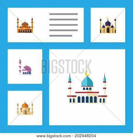 Flat Icon Minaret Set Of Religion, Mosque, Islam And Other Vector Objects