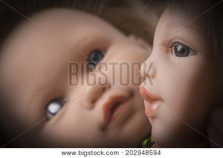 Old Doll Head Detail, Abstract image, conceptual