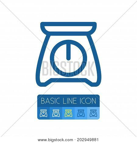 Hook Vector Element Can Be Used For Counterbalance, Scale, Hook Design Concept.  Isolated Counterbalance Outline.