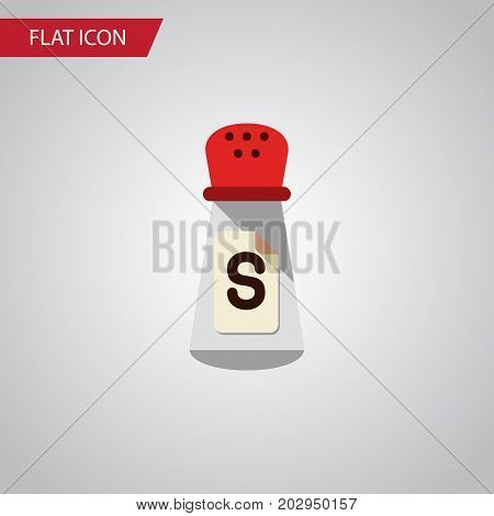 Saltshaker Vector Element Can Be Used For Condiment, Sodium, Saltshaker Design Concept.  Isolated Condiment Flat Icon.