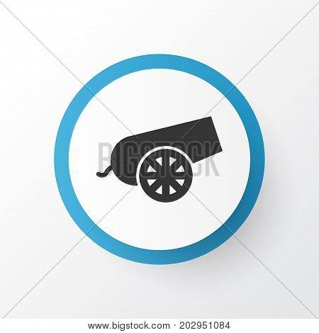 Premium Quality Isolated Cannon Element In Trendy Style.  Bomb Icon Symbol.