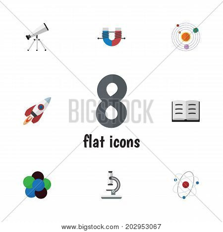 Flat Icon Knowledge Set Of Lecture, Scope, Orbit And Other Vector Objects