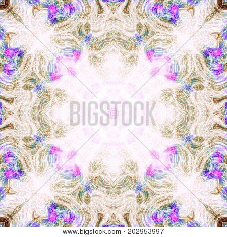 Ornate soft astral esoteric abstract tile square background