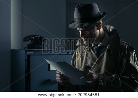 Undercover Spy Stealing Files