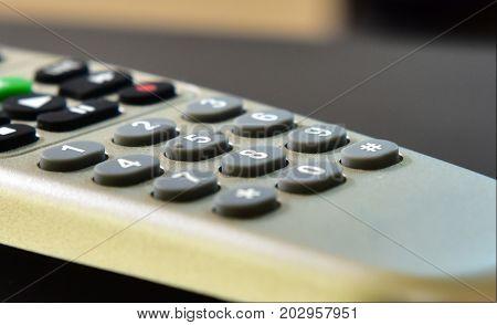 Plain remote television controller. Basic no brand remote.