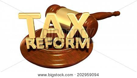 Tax Reform Law Concept 3D Illustration