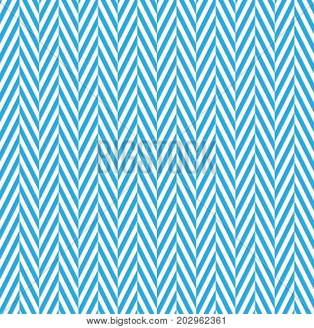 Zigzag chevron seamless pattern background. Alternate blue and whitce color. Vector illustration.
