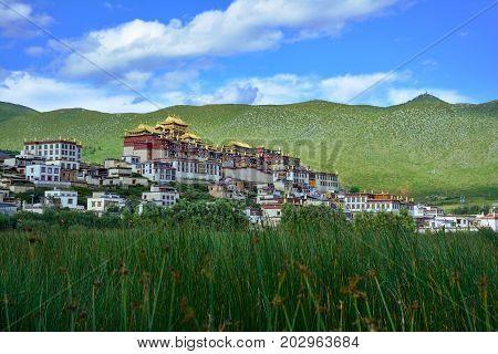 Ganden Songzanlin Buddhist Monastery. Shangri-La County Yunnan province China.