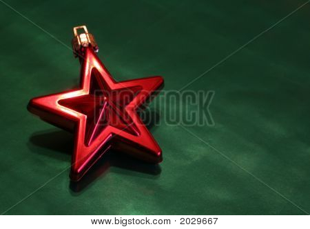 Shiny Red Christmas Star