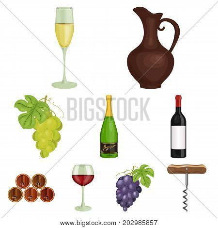 Wine products. Growing grapes, wine.Vine production icon in set collection on cartoon style vector symbol stock web illustration.