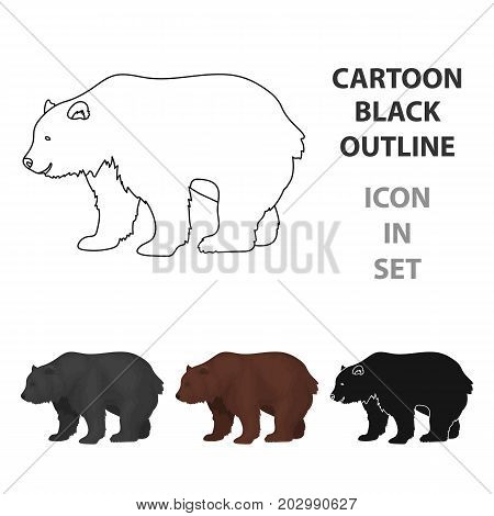 Canadian brown bear. Canada single icon in cartoon style vector symbol stock illustration .