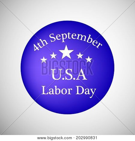 illustration of stars and 4th September U.S.A Labor Day text on the occasion of Labor Day