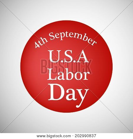 illustration of 4th September U.S.A Labor Day text on the occasion of Labor Day