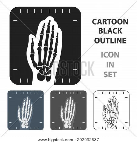 X-ray hand icon cartoon. Single medicine icon from the big medical, healthcare cartoon.