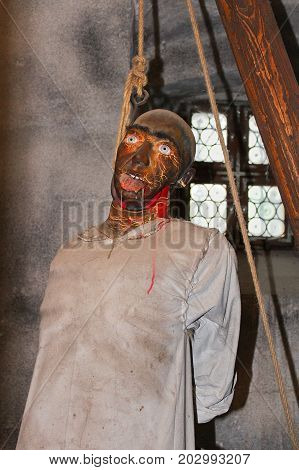Dummy Hanged On Rope, Old Torture Practice