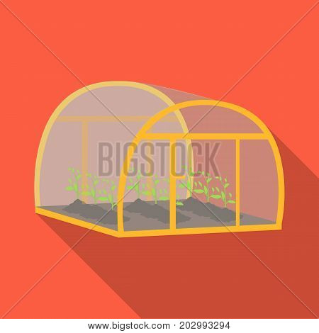 Greenhouse, single icon in flat style .Greenhouse, vector symbol stock illustration .