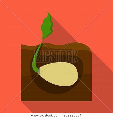 Root, single icon in flat style .Root vector symbol stock illustration .