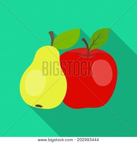 Fruit single icon in flat style .Fruit, vector symbol stock illustration .