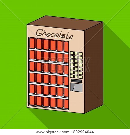 A terminal with different kinds of chocolate. Terminals single icon in flat style isometric vector symbol stock illustration .