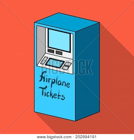 Terminal for aviation tickets. Terminals single icon in flat style isometric vector symbol stock illustration .