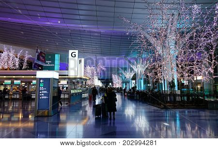 Haneda International Airport In Tokyo, Japan