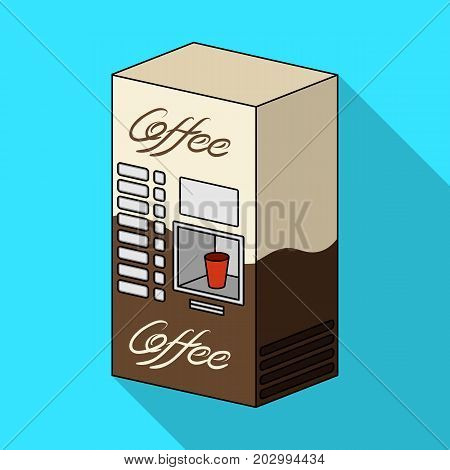 Terminal, preparation of various types of coffee. Terminals single icon in flat style isometric vector symbol stock illustration .