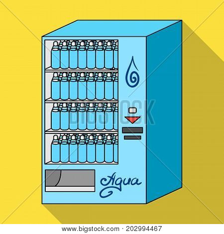 Terminal for the sale of bottled water. Terminals single icon in flat style isometric vector symbol stock illustration .