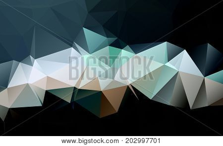 Black Dark  Polygonal Low Pattern. Geometric Pattern.repeating Pattern With Triangle Shapes.seamless