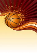 basketball sport design element poster