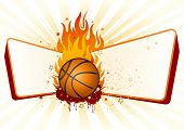 flame,basketball design element poster