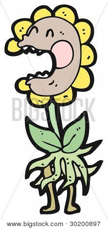 man eating plant cartoon