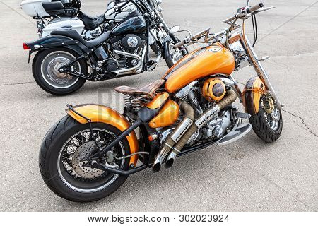 Samara, Russia - May 18, 2019: Annual Motorcycle Event For The Opening Of The Motorcycle Season. Dif