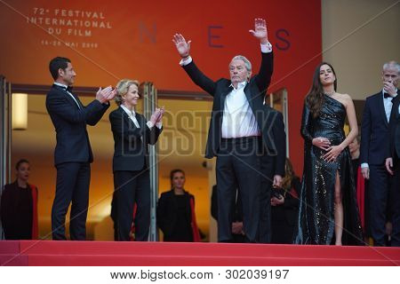 Alain Delon and Anouchka Delon attend the screening of