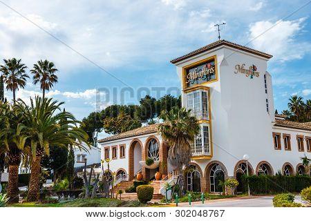 La Cala De Mijas, Spain, April 02, 2018: Hotel District In La Cala De Mijas, Spain, Costa Del Sol