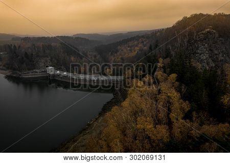 Sec Dam Is An Artificial Drinking Water Reservoir Located In Pardubice Region, Czech Republic. The D