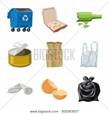 Isolated Object Of Environment  And Waste Symbol. Collection Of Environment  And Ecology Vector Icon