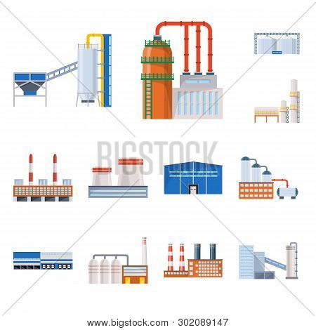 Vector Illustration Of Industry And Building Symbol. Set Of Industry And Construction Stock Vector I