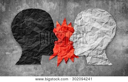 Culture War Between Right And Wrong Or Conservative And Liberal Political Clash Of Ideas As A 3d Ill