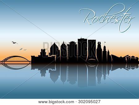 Rochester Skyline - New York, United States Of America, Usa, Ny - Vector Illustration - Vector